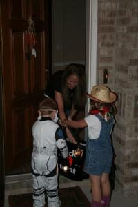 More trick or treating.