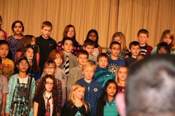 Part of Z's class singing.